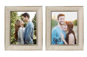 Set Of 2 Table Top Photo Frames Perfect For Home & Office Table Decorations 2 Units Of 6 x 8