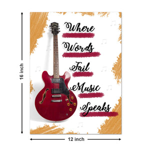 Set Of 6 Musical Theme Art Poster For Home Decor Size - 12 x 16 Inch