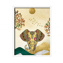 Load image into Gallery viewer, Artistic Elephant Theme Multicolored Canvas Art Print, For Home & Office Decor
