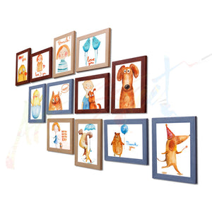 Painting Mantra Acrylic Vibrant Wall Photo Frame (90 cm x 80 cm x 2 cm, Set Of 12)