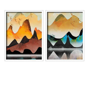 Landscape Theme Multicolored Framed Canvas Art Print, For Home & Office Decor