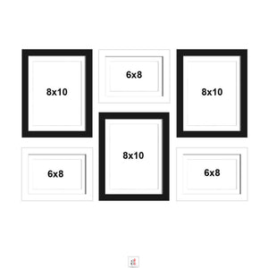 Set Of 6 Wall Photo Frame, For Home Decor With Free Hanging Accessories