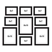 Load image into Gallery viewer, Set Of 9 Black Wall Photo Frame, For Home Decor With Free Hanging Accessories