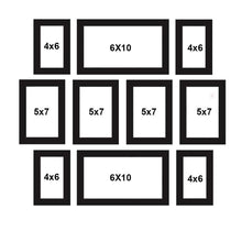 Load image into Gallery viewer, Set Of 10 Black Wall Photo Frame, For Home Decor With Free Hanging Accessories