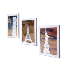 Load image into Gallery viewer, Wanderlust Monuments Set Of 3 White Framed Art Prints Size - 8 x 10 Inch