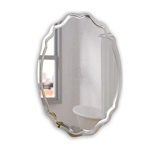Modern Frame-Less Glass Mirror For Home & Office Decor Size - 19 x 27 Inches