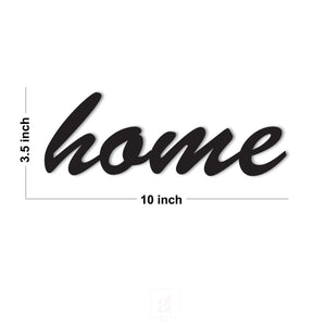 Home MDF Plaque Painted Cutout Ready to Hang For Wall Decor Size 3.5 x 10 Inch