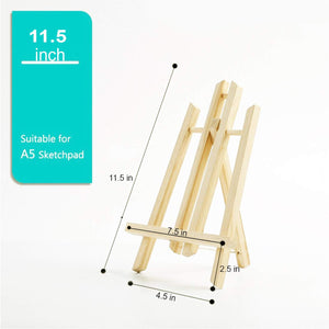 Canvas Stand For A5 Sketchpad Set Of 2, Wooden Canvas Boards Stand Ideal For Drawing & Display (Size- 11.5, 7.5, 2.5, 4.5 Inches)