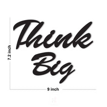 Load image into Gallery viewer, Think Big MDF Plaque Painted Cutout Ready To Hang For Wall Decor Size 7.2 x 9 Inch