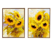 Load image into Gallery viewer, Yellow Sunflower Theme Framed Canvas Art Print, For Home & Office Decor