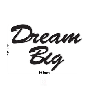 Dream Big MDF Plaque Painted Cutout Ready To Hang For Wall Decor Size 7.2 x 10 Inch