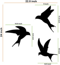 Load image into Gallery viewer, Birds Shape MDF Plaque Painted Cutout Ready To Hang Home And Wall Decoration