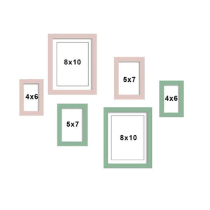 Set Of 6 Individual Wall Photo Frame, For Home Decor With Free Hanging Accessories
