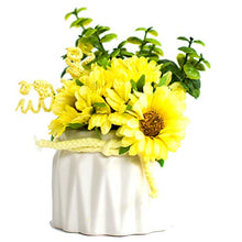 Load image into Gallery viewer, Artificial Pink Sunflower Flowers Plantsin Ceramic Pot/Planter for Home.