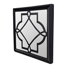 Load image into Gallery viewer, Art Street -Set of 3 Black Petal Mirror for Decorative in Square Shape (10 x 10 Inchs)