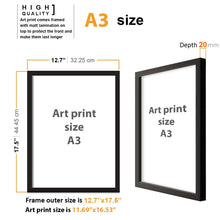 Load image into Gallery viewer, Abstract Theme Printed Set Of 2 Wall Art Print -12 X 16 Inch