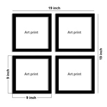 "Load image into Gallery viewer, Jungle Cirri Set Of 4 Black Framed Art Prints Size - 9"" x 9"" Inch"