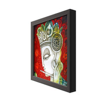 Load image into Gallery viewer, Shri Krishana Framed Painting, 1 Framed Art Print For Wall Decor Size - 13 x 13 Inch