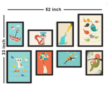 Load image into Gallery viewer, Set Of 8 Framed Poster Art Print -Kids Room Theme -Art Print For Kids Room, Art Print For Living Room