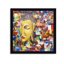Load image into Gallery viewer, Buddha Framed Painting, 1 Framed Art Print For Wall Decor Size - 13 x 13 Inch
