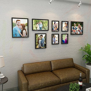 Vital Set of 8 Individual Black Wall Photo Frame