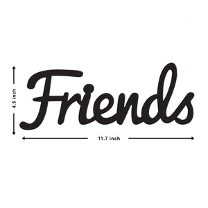 Art Street Friends MDF Plaque Painted Cutout Ready to Hang Home Décor Wall Art