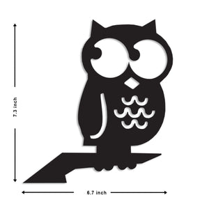 Art Street OWL MDF Plaque Painted Cutout Ready to Hang Home Décor Wall Art