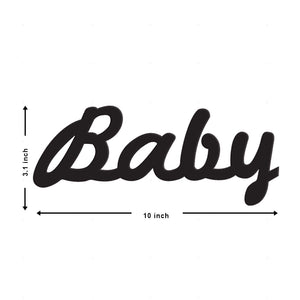 Art Street Baby MDF Plaque Painted Cutout Ready to Hang Home Décor Wall Art
