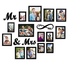 Load image into Gallery viewer, MDF Plaque You Me Infinity -Mr and Mrs Individual Wall Photo Frame Set of 14