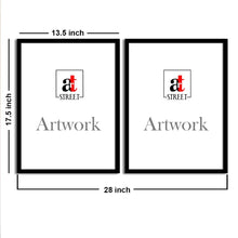 Load image into Gallery viewer, Art Street Blue Amazing Matte Art Print, Painting for Home Décor Set of 2