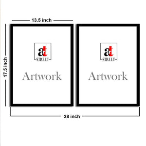 Art Street Blue Amazing Matte Art Print, Painting for Home Décor Set of 2