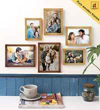 Load image into Gallery viewer, Art Street Set Of 6 Brown & Beige Wooden Wall Photo Frame, Picture Frame For Home Decor