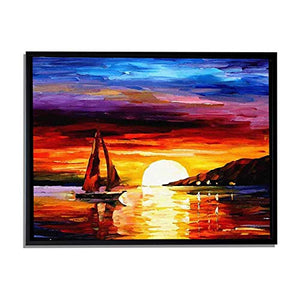 Nature Reflections Art Print, Landscape Canvas Painting