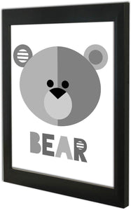 Cute Bear Theme Poster With Frame For Kids Room