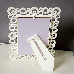 Set Of 2 Decoralicious White Circular Table Photo Frame For Home Decor