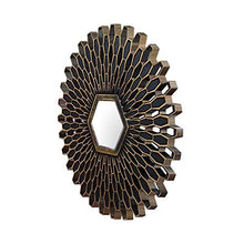 Load image into Gallery viewer, Art Street -Set of 3 Gold & Black Petal Mirror,Decorative in Round Shape (10 x 10 Inchs)