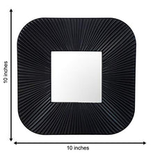 Load image into Gallery viewer, Decorative Square Black Wall Mirror for Living Room Set of 3