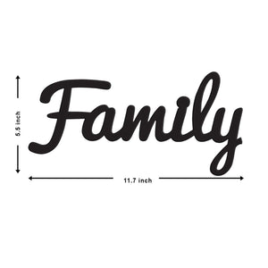 Art Street Family MDF Plaque Painted Ready to Hang Cutout for Home Decor & Wall Decor