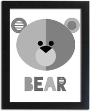 Load image into Gallery viewer, Cute Bear Theme Poster With Frame For Kids Room