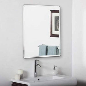 Art Street Frameless Beveled CircularWall Mirror, Modern Frameless Mirror for Bathroom Room Hanging Horizontal or Vertical -23 X 15 Inchs