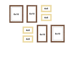 Premium Photo Frames For Wall, Living Room & Gifting - Set Of 8