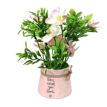 Load image into Gallery viewer, Artificial Table Plants/Flower Forget me not in Ceramic Pot/Planter for Home.