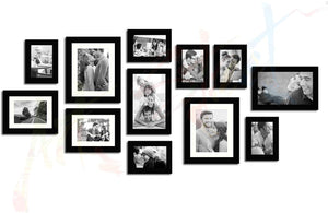 Glass Basic Black Individual Photo Frame Set