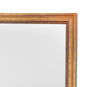 Gold Rectangle Synthetic Modern Warnish Wall Mirror Inner Size 12X16 inch, Outer Size 14X18 Inch