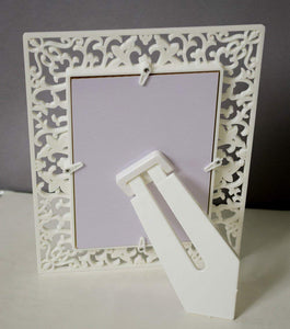 Set of 2 Decoralicious White Abstract Design Table Photo Frame For Home Decor