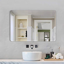 Load image into Gallery viewer, Art Street Frameless Beveled CircularWall Mirror, Modern Frameless Mirror for Bathroom Room Hanging Horizontal or Vertical -23 X 15 Inchs