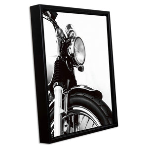 Bike Theme Art Print with Frame Black & White