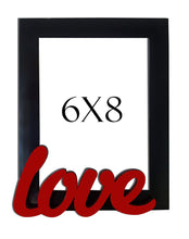 Load image into Gallery viewer, Love Customize Table Photo Frame Red and Black