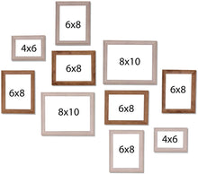 Load image into Gallery viewer, White And Natural Cave Premium Brown photo frames for wall ,living room ,Gift - set of 6 .