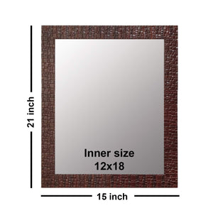 Marble Red Wall Mirror Inner Size 15x21 Inchs